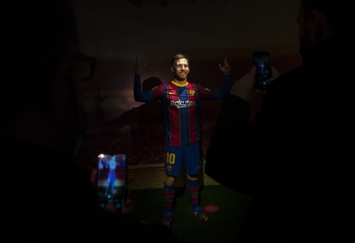Messi has also signed for the renovated museum