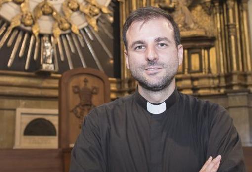 El párroco Gabriel Benedicto, en una imagen de archivo de 2017