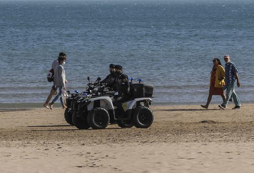 Imagen tomada en la playa del Cabanyal de Valencia