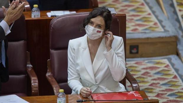 La sesión de investidura de Díaz Ayuso en la Asamblea de Madrid, en directo