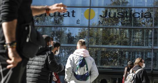 Imagen de archivo tomada en la Ciudad de la Justicia de Valencia