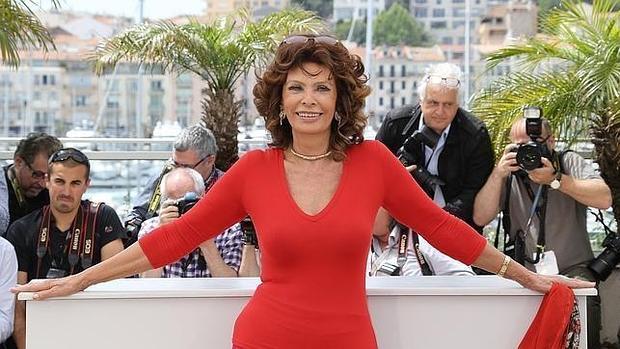 Sofía Loren en el festival de Cannes del años pasado