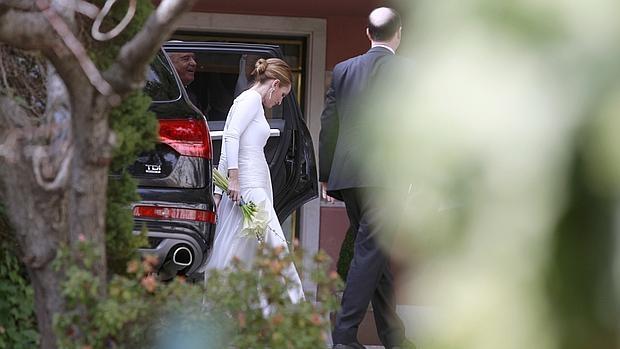 Andrea Pascual llega a la casa de la Infanta Doña Pilar en Puerta de Hierro