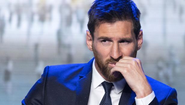 Messi en una conferencia en Beijing a principios de este año