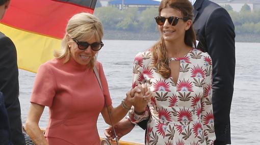 Juliana Awada aprovechó la cumbre mundial para acercarse a Brigitte Macron