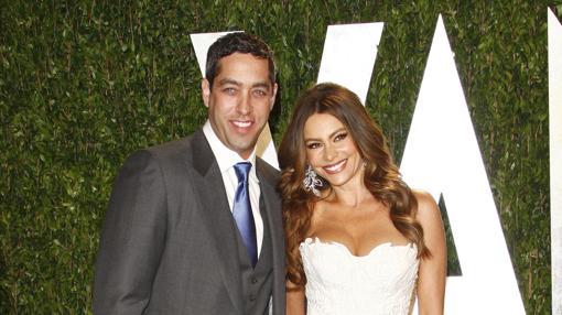 Sofía Vergara y Nick Loeb, en una fiesta de los Oscar en 2012