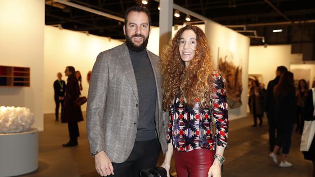 Borja y Blanca Thyssen en ARCO