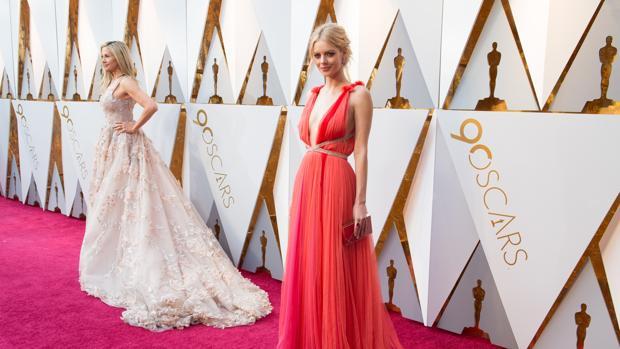 Samara Weaving y Mira Sorvino, en la última edición de los Oscar
