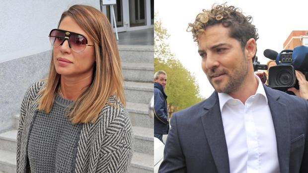 Elena Tablada y David Bisbal a su salida del juzgado