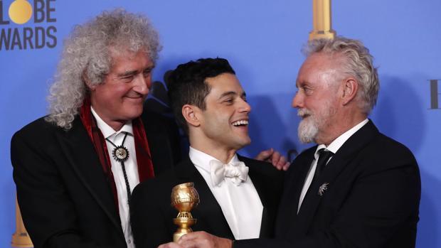Rami Malek, Brian May y Roger Taylor