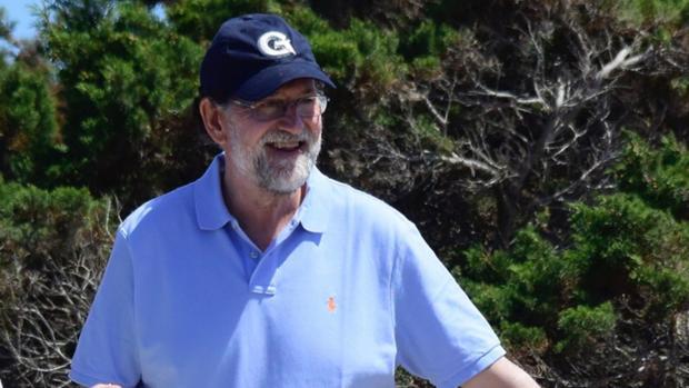 Mariano Rajoy durante sus vacaciones en Formentera