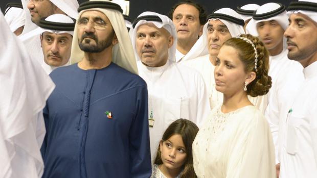 Mohamed bin Rashid y Haya de Jordania