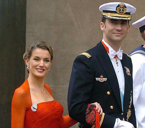 Doña Letizia y Don Felipe en la víspera de la boda de Federico y Mary de Dinamarca