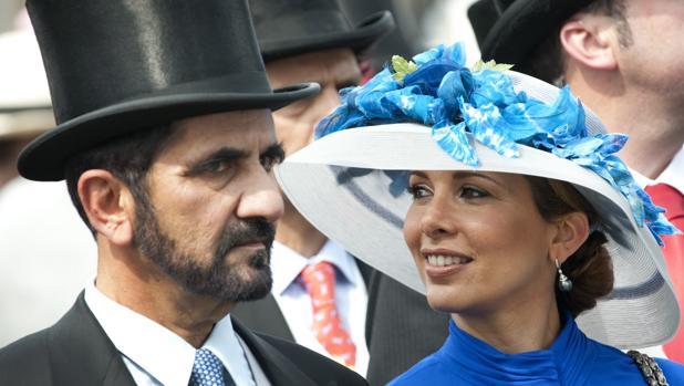Princesa Haya de Jordania y el emir de Dubai