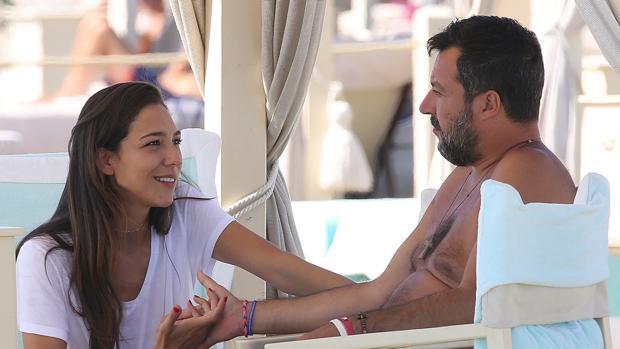 Matteo Salvini y su novia, Francesca Verdini