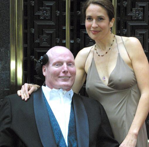 El actor junto a su mujer