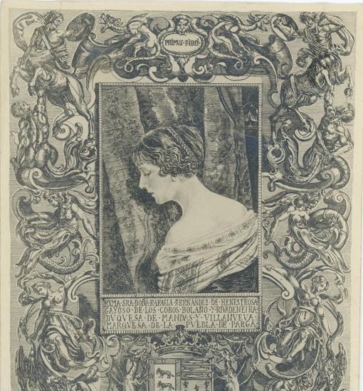 Ilustración de la duquesa de Mandas, María Rafaela Fernández de Henestrosa