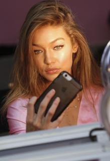 Gigi Hadid during one of the Victoria & # 039; s Secret fashion shows