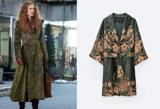 Chenille and Jacquard print coat, by Uterqüe.  Price: € 179