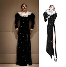 Dress and sketch of Emma Corrin's look