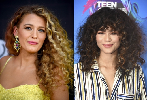 Blake Lively and Zendaya also bet on showing off their curly manes.