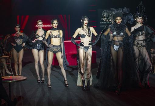 Models during the Andres Sarda fashion show at MBFWMadrid