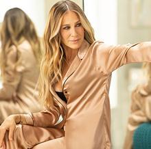 Sarah Jessica Parker with a pijama de Intimissimi