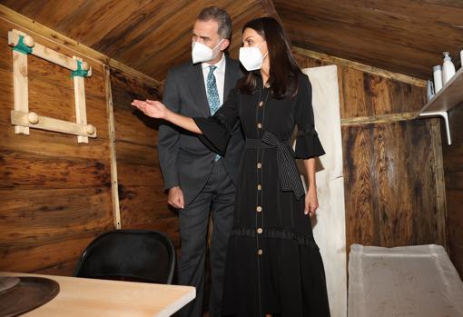 Don Felipe and Mrs. Letizia visit the Memorial Center for the Victims of Terrorism