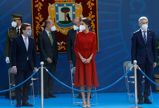 The Queen presides over an act of the Municipal Police of Madrid on the occasion of the festival of San Juan Bautista