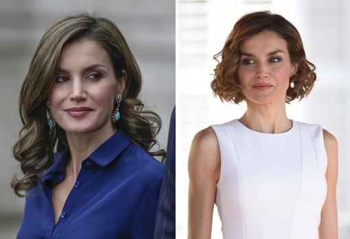 Doña Letizia is faithful to the medium hair at shoulder height, but in 2015 she opted for the bob haircut.