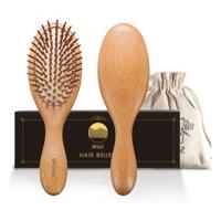 Wooden anti fall hair brush