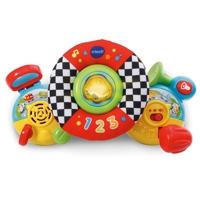 Toy steering wheel for baby stroller