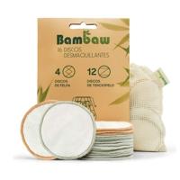 16 reusable make-up remover discs Bambau