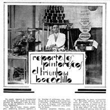 Página del reportaje sobre el auge de los bocadillos en Madrid, en 1930 en la revista gráfica 'La Unión Ilustrada'