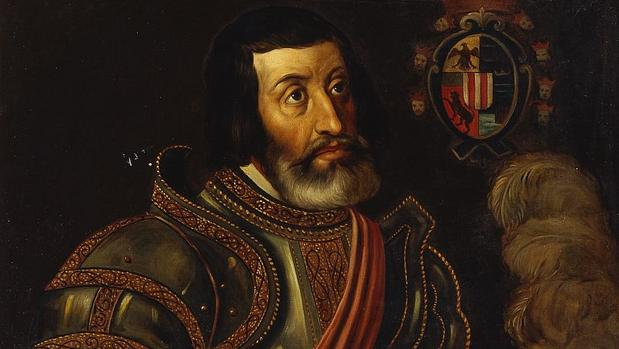 Copia de un retrato de Hernán Cortés realizada en el siglo XIX