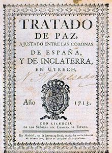 Tratado de Utrecht, de 1713