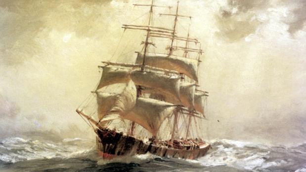 «Barque» por Thomas Somerscales, 1910