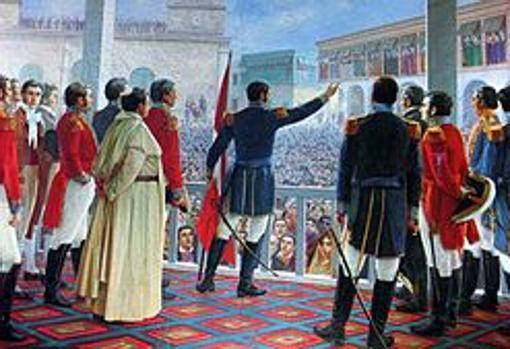 Proclamación de la Independencia del Perú. Óleo de Juan Lepiani.