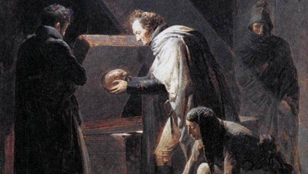 El coleccionista galo Denon reemplaza algunos restos del Cid a su tumba