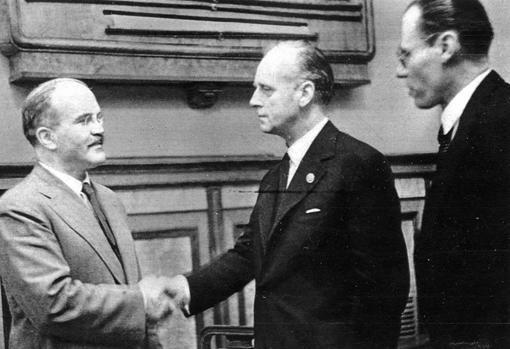 Líderes, durante el pacto