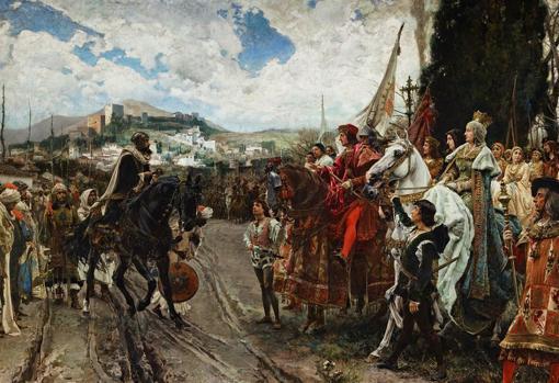 La rendición de Granada, obra de Francisco Pradilla