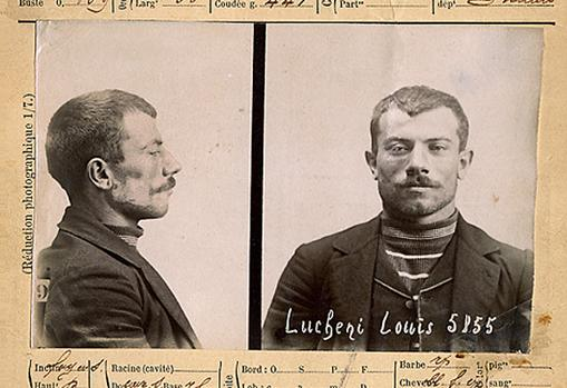Ficha policial de Luigi Lucheni