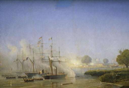«Captura de Saigón por las fuerzas expedicionarias francesas y españolas», de Léon Morel-Fatio