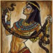 Cleopatra, mordida por un áspid
