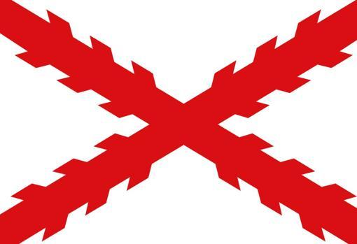 Bandera del Virreinato de Nueva España que forma parte del Imperio español que fundó ciudades como San Francisco (California), Los Angeles (California), San Antonio (Tejas), Pensacola (Florida) o San Agustín (Florida)
