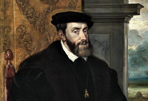 Retrato de Carlos V sentado, por Tiziano (