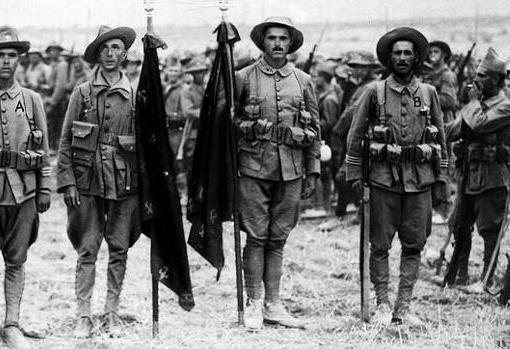 Legionarios, durante los primeros años de la formación de la unidad