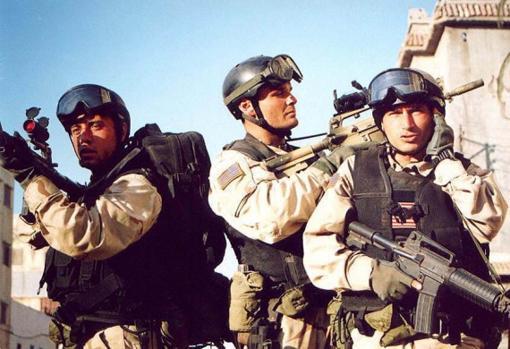 Miembros de la Delta, en la película Black Hawk derribado