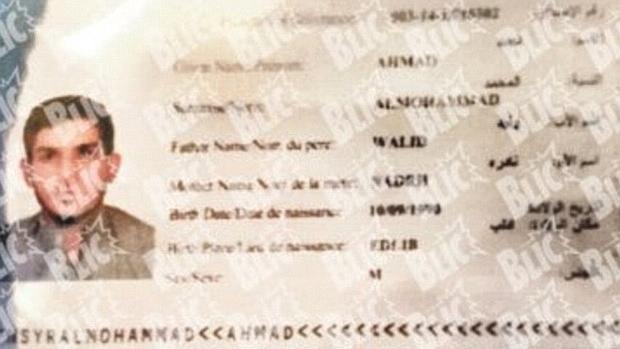 Pasaporte sirio hallado junto a uno de los terroristas que se inmoló en París