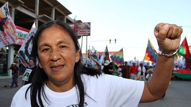 La líder de Túpac Amaru, hoy presa, Milagro Sala
